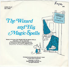 The Wizard and His Magic Spells Jack Kent Book & Record set 1976 FREE USA SHIP
