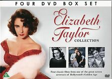 ELIZABETH TAYLOR COLLECTION 4 DVD BOX SET 4 FILMS THE LAST TIME I SAW PARIS more