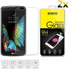 2x KHAOS For LG K10 Premium Tempered Glass Screen Protector 0.3MM HD