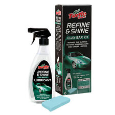 Turtle Wax Refine & Shine CLAY BAR Kit Car Polish Wax Paintwork Colour Restorer