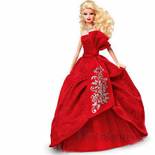 2012 Holiday Barbie Doll - Blonde with Red Christmas Dress - Mattel W3465