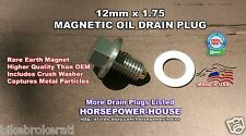 12mm 1.75 12-1.75 US Made MAGNETIC OIL DRAIN PLUG GM CAR CHEVROLET GMC CORVETTE