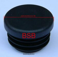 2 Stk. Lamellenstopfen Ø 80 mm WS 1-3 mm schwarz rund Endkappen Stopfen