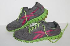 Reebok Realflex Running Shoes, #J87120, Grey/Pink/Lime, Women's US Size 9.5