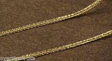 ONSALE 15.7INCH 18K Yellow Gold Necklace Foxtail Chain /1.57g Au750