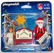 Papá Noel Ángel + + organillero Orgel Playmobil 4889 navidad OVP nuevo