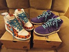 NIKE BIG HIGH QK FLINTSTONES DINO & FRED  SIZE  8 EXTREMLEY RARE SET NICE