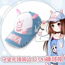Game Overwatch OW D.Va Hana Son Hat Daily Cosplay Pink Rabbit Ear Baseball Cap