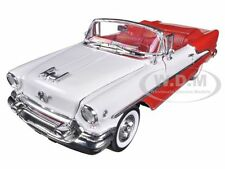 1955 OLDSMOBILE SUPER 88 CONVERTIBLE RED 1:24 DIECAST CAR MODEL BY WELLY 22432