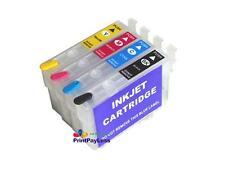 4 Empty Refillable Ink Cartridge for Epson 200/XL (NonOEM) XP-200 XP-300 XP-310