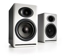 NIB Audioengine P4 Passive Bookshelf Speakers - Glossy White with Warranty