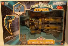 "Power Rangers Lightspeed Rescue - Deluxe Titanium Land Crawler With 5"" Ranger"
