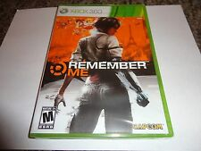 Remember Me  (Xbox 360, 2013) NEW