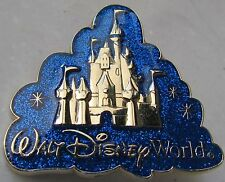Disney Golden Cinderella's Castle Glitter Cloud Logo Artist Proof AP Pin