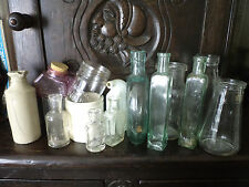 Bottles COLLECTION OF PHARMACY CERAMICS GLASS 15 pcs. ENGLAND 1900-60-ies pharm