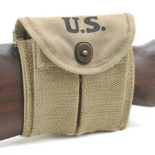 USGI WW2 .30 M1 CARBINE  BUTTSTOCK TYPE POUCH KHAKI Dated 1942