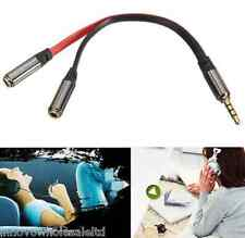 New 3.5mm Headphone Splitter Jack Male to 2 Dual Female Cable lead audio Y Lead