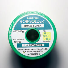 1.1 lb. SENJU SMIC Lead-free Solder Wire ECO Solder RMA98 SUPER Flux Cored 0.5mm