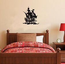 Vinyl Pirate Ship Boat Skull Wall Art Sticker Home Decoration Decal Wallpaper
