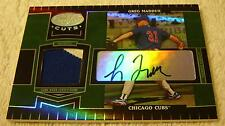 GREG MADDUX 2004 LEAF CERTIFIED CUTS MIRROR EMERALD JERSEY PATCH AUTO SERIAL 2/5