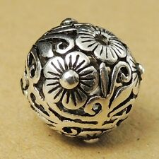 S925 Sterling Silver Round Bead Vintage DIY Jewelry Making WSP018