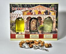 ANGLICAN BETHLEHEM OLIVE WOOD CHRISTIAN PRAYER ROSARY COMES WITH HOLY LAND SET