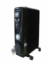 9 Fin 2000W 240V Portable Electric Oil Filled Radiator Heater With 24 Hour Timer