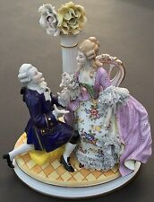 Antique German Porcelain Figurine Grouping. Early Volkstedt Mark. Circa 1900