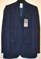 MENS M&S 'MAN' LUXURY SUEDETTE JACKET BIG & TALL SIZE 38 LONG NAVY MIX BNWT