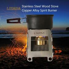 Light Weight Wood Gas Backpacking Emergency Survival Burning Camping Stove C8O6