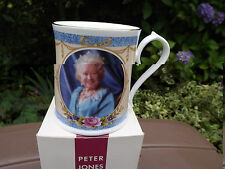 2002 Aynsley China Queen Mother In Memorium Portrait Mug Limited Ed with box