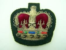 Military Queens Crown vintage embroidered patch              572