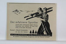 Kaiser Brust-Caramellen - Kleine Werbetafel - um 1935 (?) selten !   K 1/1/8