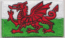 Wales Welsh Country Flag Embroidered Patch T4