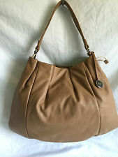 FURLA TAN LEATHER  DRAWSTRING SHOULDER HANDBAG
