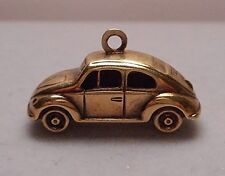Vintage 14K Yellow Gold Car Auto Charm - Volkswagen Beetle Type I VW Bug - 1.2g