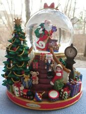 Christopher Radko Christmas Musical Snow Globe Dome Splendent Santa NIB