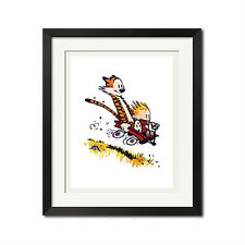 Calvin and Hobbes Downhill Sport Poster Print
