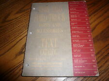 1948 thru 1956 Ford Truck Parts & Accessories Text Catalog OEM - Vintage