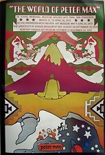 "PETER MAX POSTER PRINT (WORLD OF PETER MAX) 11""x16"" 2-SIDED COSMIC PSYCHEDELIC"