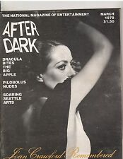 AFTER DARK Entertainment Magazine Joan Crawford Remembered/Frank Langella 3-78