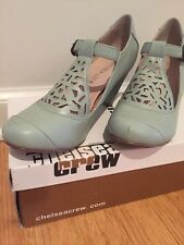 Chelsea Crew Mint Green Mary Jane Buckle Strap Heels Never Worn Size 37 6 US