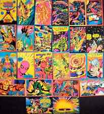 MARVEL THIRD EYE Black light Greeting Cards COMPLETE SET OF 24 w/ envelopes RARE