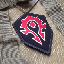 WOW World of Warcraft Orc MORALE BADGE EMBROIDERED Hook & Loop VELCRO PATCH
