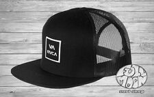 New RVCA VA All The Way Box Trucker Black Mens Snapback Cap Hat