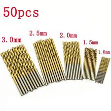 new 50PCS Mini Micro Round Shank Drill Bits Set Small Precision HSS Twist Drill