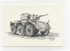 Alvis Saladin FV601 1953 6x6 Armoured Car - Military Vehicle Postcard