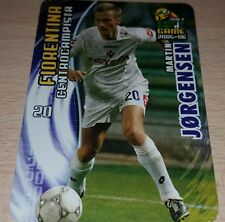 CARD CALCIATORI PANINI 2005-06 FIORENTINA JORGENSEN CALCIO FOOTBALL SOCCER ALBUM
