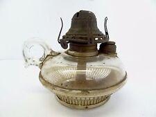Antique Old Glass Scoville MFG Co Queen Anne Burner Oil Handheld Finger Lamp