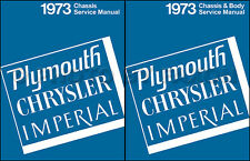 1973 Chrysler Shop Manual Set Imperial New Yorker Newport Town Country Service